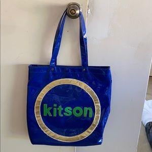 BLUE VINTAGE KITSON TOTE BAG 💙